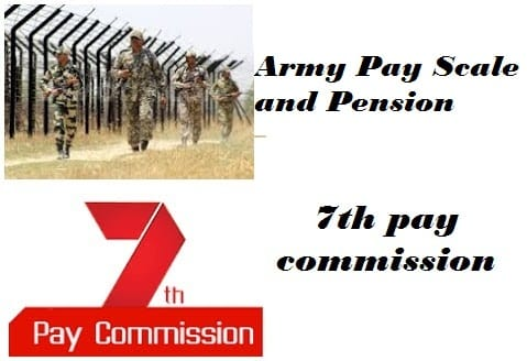 Army Pay Scale Slip Pension General, Lieutenant general, Major general, Brigadier, Colonel, Lieutenant Colonel, Major, Captain, Lieutenant