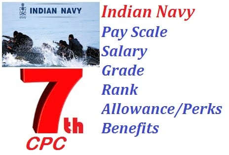 Navy Pay Scale Salary Grade Rank Allowance Perks Benefits Under 7th pay Commission