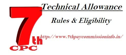 Technical Allowance Eligibility Rules