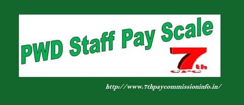PWD Staff Pay Scale Matrix Salary Allowance