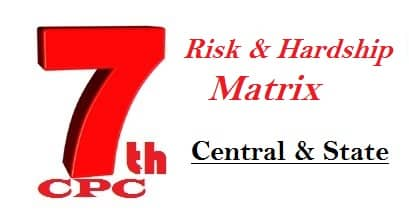 Risk and Hardship Matrix in 7th Pay Commission