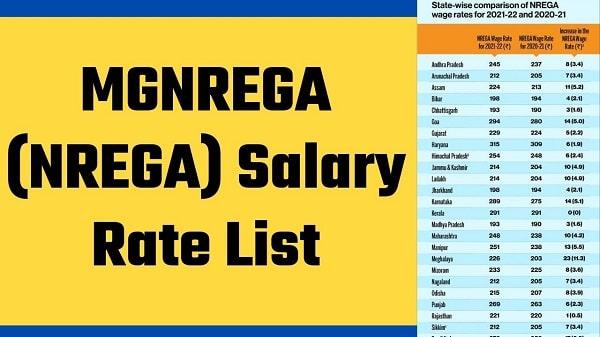 mgnrega salary rate list